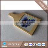 Cheese board + wood frame with high quality sublimation glass tile