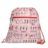 cute kid's drawstring bag birthday party favor bag with zipper bag