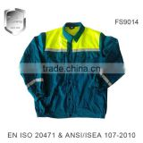thick long sleeved work safety construction coloured clothing