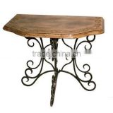 Wood table, wooden coffee table, folding table, pedestal table, oval wooden table, wood folding table, wooden side table