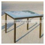 Ourdoor Glass rattan table, UV protection