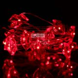 red lips red light battery operated silver wire low voltage high brightness night light decoration home holiday lights