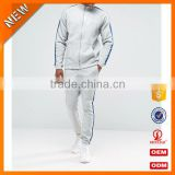 High Quality sportswear men all cotton tracksuit wholesale / grey and black men tracksuit custom with hot market H-2151