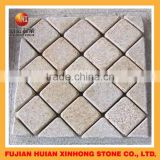 cheap garden granite paving stones with basalt stepping decoration