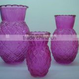 Hot selling high quality Professional glass vase for flowers in different shape