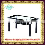 high quality Modern beautiful tempered glass dining tables