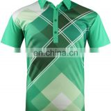 China manufacturer OEM high quality sublimation dri fit golf clothes/golf shirt