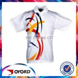 Wholesale custom 100 polyester sublimation t shirt polo