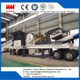 High capacity Tire type mobile crushing station plant