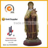 12 Inch Religious Craft Virgin Mary Hold Rose Cross Resinic Figurine