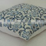 Indian Handmade Cotton Block Print Cushion Cover Handmade Ethnic Pillow Cover Neck Pillow Removable Cushion Cover