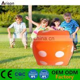 PVC inflatable dice inflatable dice shaped seat for kids' outdoor game tools