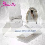 A0429 2013 Classical Pure Ribbon Indian Handmade Wedding Invitation Card