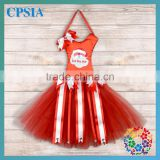 wholesale tutu bow holder red tulle with ribbon bow christmas bow holder