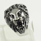 Harley Davidson Jewelry Lion Ring Rhodium Plating 7# 8# 9#