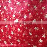shinny glitter printed organza roll for christmas decoration