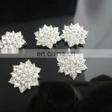 18mm Clear Alloy Metal Buttons Spark Rhinestone Buttons Decoration Accessory