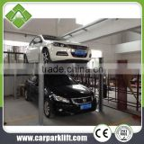 four post and double level garage car storage lift for parking and repairing purpose using