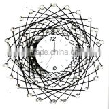 New design high quality metal wall clock art