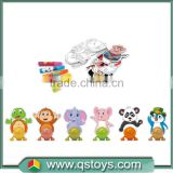 Wind up mini animal Inteligent DIY painting toy