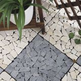 30x30cm outdoor waterproof natural travertine stone deck flooring tiles for garden by China manufacturer