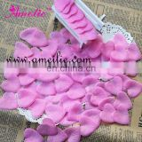 Heart shape fabric dried rose petals