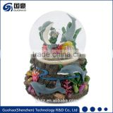 Promotional advertising dolphin Snow Globe