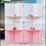 Alibaba screen wood curtain folding living room partition for home paper rope folding screen wood room divider GVSD 015