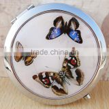Flexible Decorated Makeup Double Sided Mirror,Custom Logo Makeup Cosmetic Compact Magnify Pocket Mirror-Butterfly