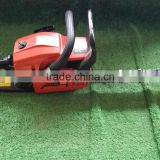 China professional gasoline chain saw 58cc, chain pitch .325, two-stroke mini wood cutting machine chain saw