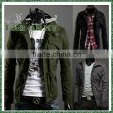 LQ men's classic military coat jacket