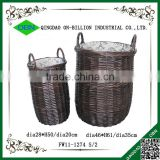 Large black wicker eco-friendly laundry basket