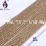 SS8 New Arrival AB Color Rhinestone Banding 10 yards/card Taidian Garment Chain Wedding Dress Bags Shoes Decoration Accessories