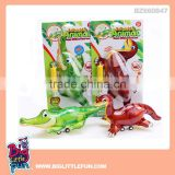 Friction toy dinosaur and crocodile, inflatable animal toys for kids