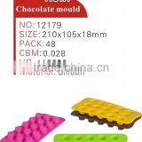 2014 Hot and fashion various shape silicone chocolate molds