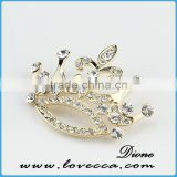 Rhinestone brooch for hairband decor,high quality rhinestone brooch,Elegant fashion jewelry brooches