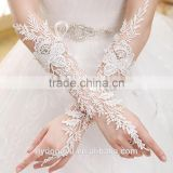 top quality white lace wedding gloves/zilxn bridal lace gloves/fancy wedding gloves