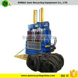 scrap tire baler machine