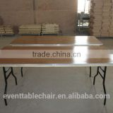 wholesale banquet wooden folding table with Alu table edge factory directly