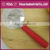 Wholesale multi function custom design pizza wheel stainless steel pizza cutter fork