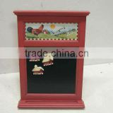 Wood Frame Blackboard Magnet with Rooster Script Design