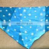 cheap high quality cotton blue star baby bibs custom for gift pets bibs for present