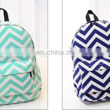 Girls Zig Zag Personalized Chevron Canvas Monogrammed Backpack