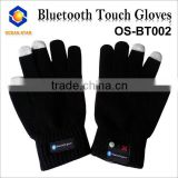 Fashion wireless bluetooth gloves for mobile phone accessories bluetooth hi-call touch gloves