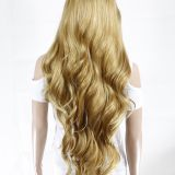 Long Curl Brown Color Synthetic Wigs