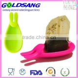 silicone tea bag holder,tea spoon holder