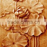 Stone relief flower carving