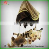 Environmental ISO soothe baby plush animal toy hanging bed bell