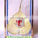Gold Plated Natural Peepal Leaf Gift Items