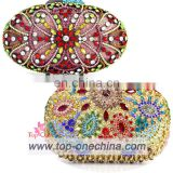 crystal evening bag/wedding bag/ clutch bag/evening bag/multicolor evening clutch handbag